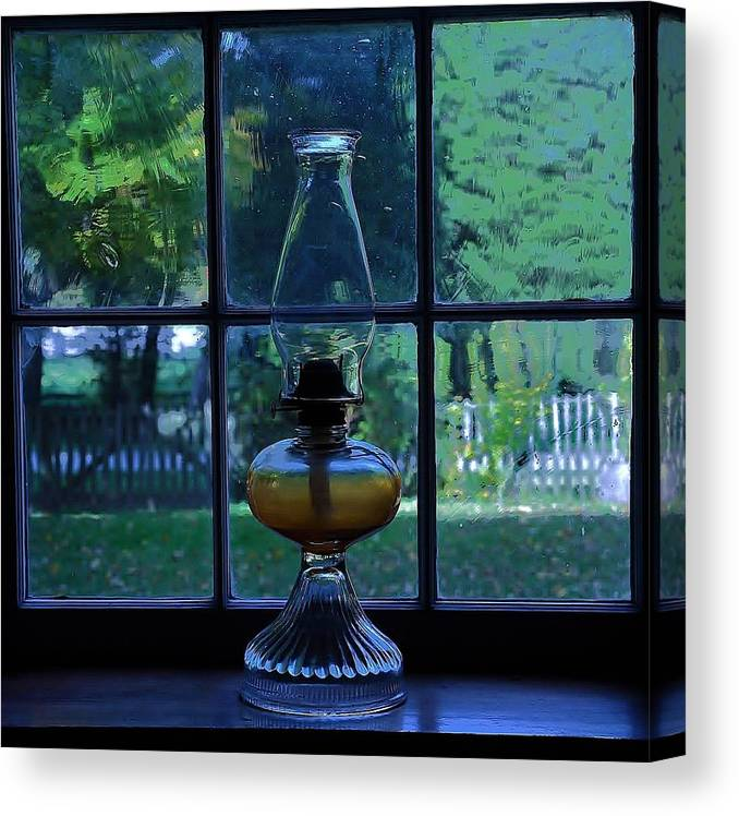 Window Canvas Print featuring the photograph Waiting by Rebecca Coors
