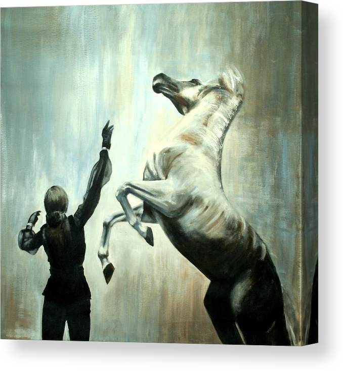 Horses Canvas Print featuring the painting Amazing Grace by Fiona Jack