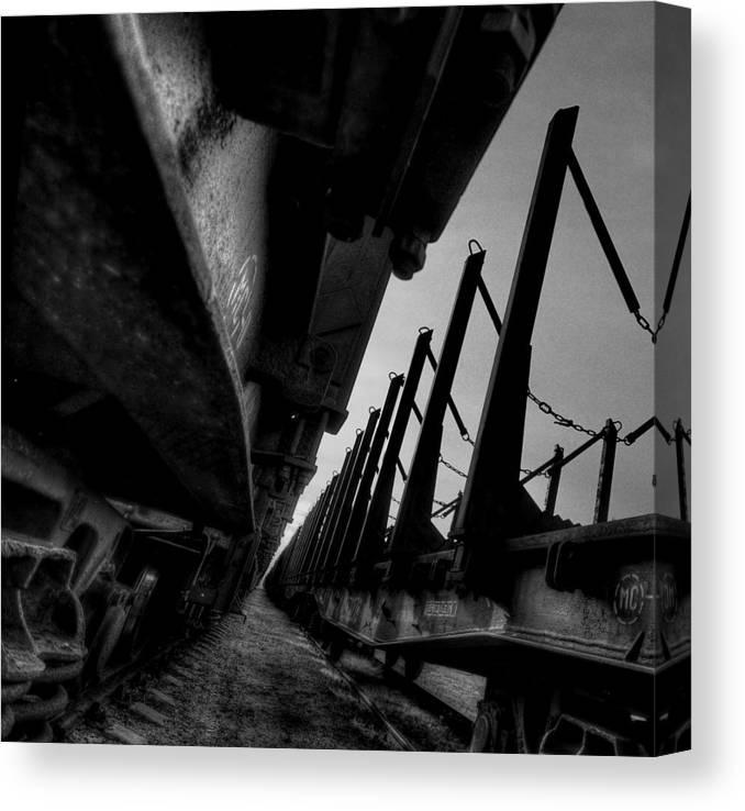 Train Canvas Print featuring the photograph Empty by Deividas Kavoliunas