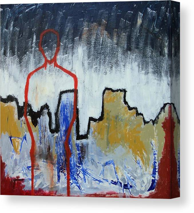Abstract Landscape Canvas Print featuring the painting Only One by Matt Holcomb