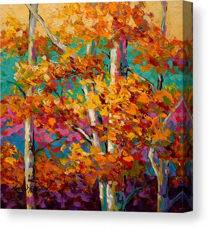 Trees Canvas Print featuring the painting Abstract Autumn IIi by Marion Rose