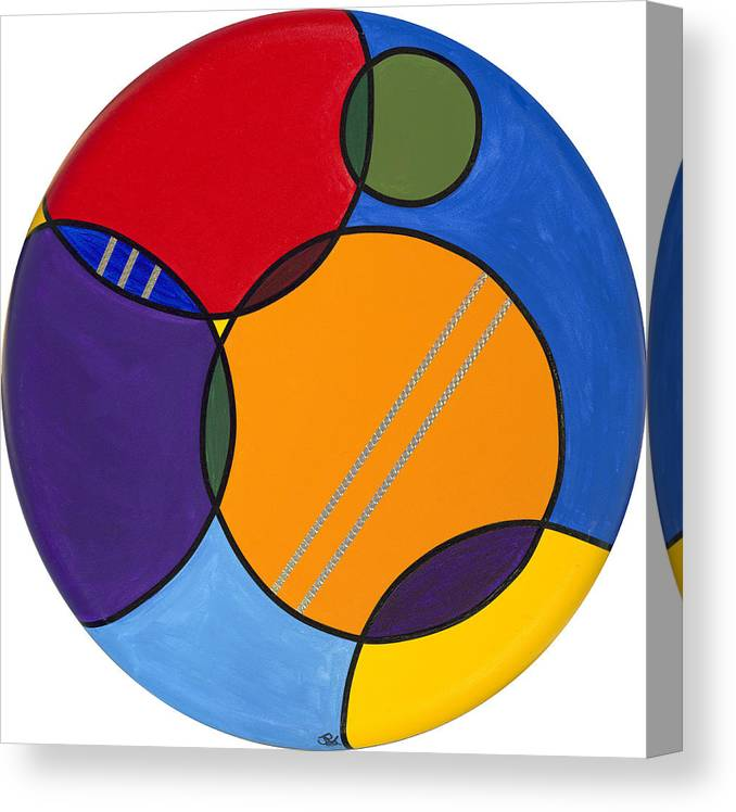 Circles Canvas Canvas Print featuring the painting Abstract Circles 2 by Patty Vicknair