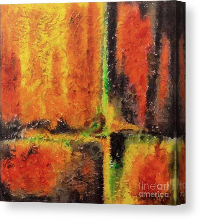 Abstract Canvas Print featuring the mixed media abstract I by Dragica Micki Fortuna