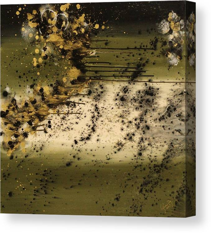 Abstract Canvas Print featuring the painting Big Boom II by Ofelia Uz