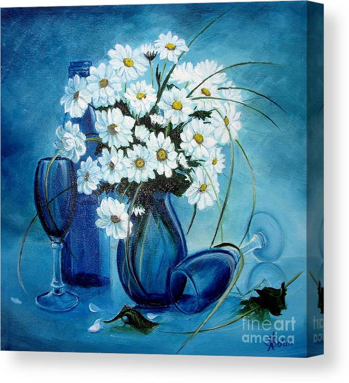 Daisies Canvas Print featuring the painting Daisies by Sorin Apostolescu