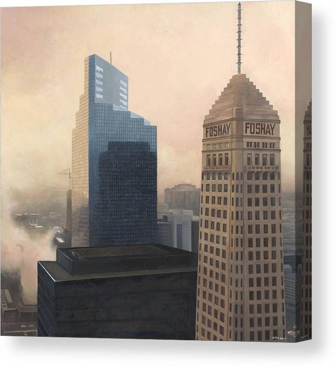 Minneapolis Canvas Print featuring the painting Foshay by Nathan Walsh