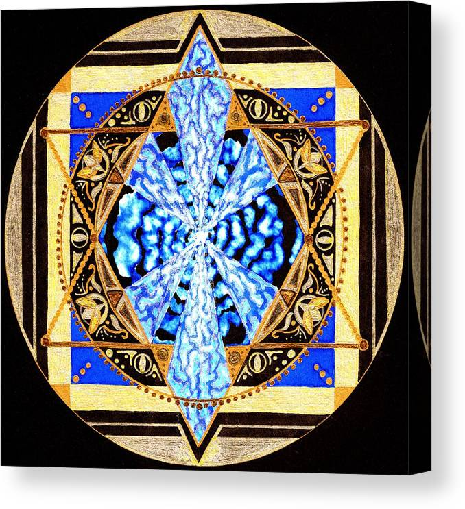 Mandala Canvas Print featuring the painting From Within by Pam Ellis