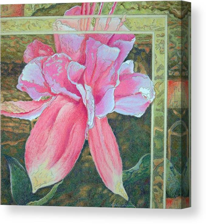 Flower Canvas Print featuring the painting Fucshia by Robynne Hardison