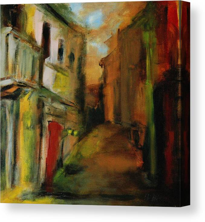Landscape Canvas Print featuring the painting Landscape Memories by Rome Matikonyte