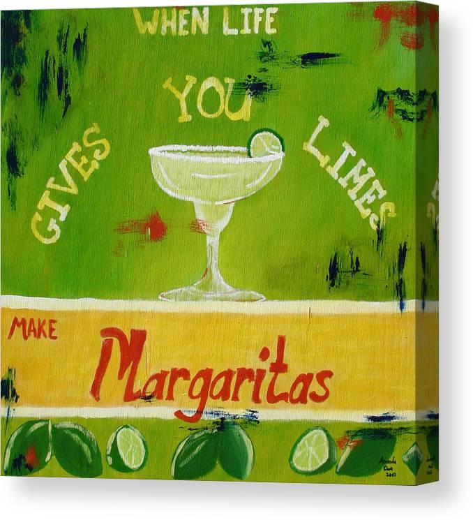 Margaritas Canvas Print featuring the painting Margaritas by Amanda Clark