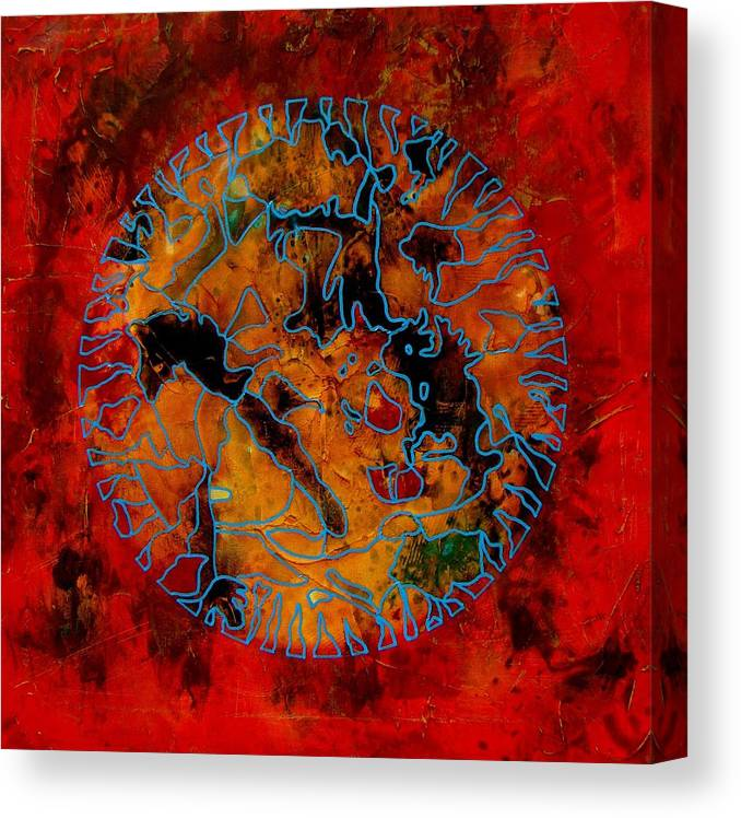 Abstract Canvas Print featuring the mixed media Reverie by Alice Schwager