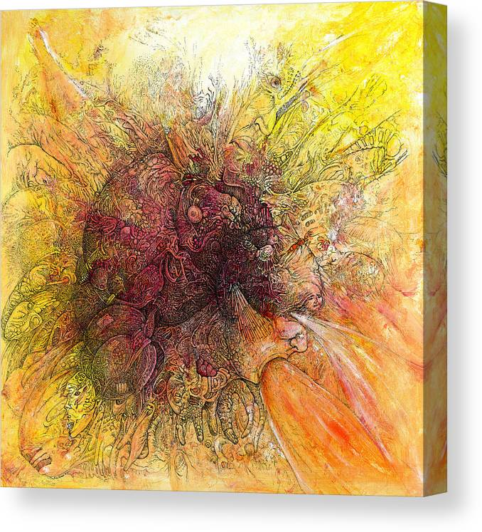 Joe Macgown Canvas Print featuring the drawing Vent by Joe MacGown