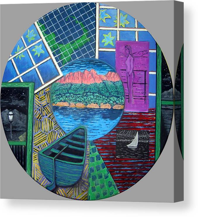 Windows Canvas Print featuring the painting Windows by Susan Stewart