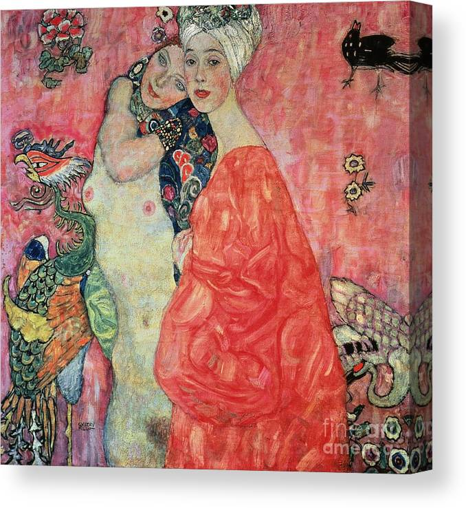 Women Canvas Print featuring the painting Women Friends by Gustav Klimt