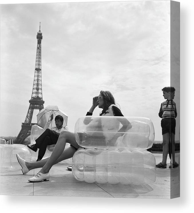 Furniture Canvas Print featuring the photograph Aerospace Furniture At Trocadero In 1967 by Keystone-france