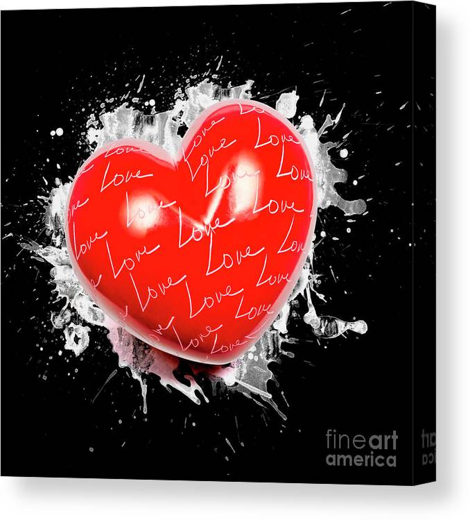 Love Canvas Print featuring the photograph Heart Art by Jorgo Photography - Wall Art Gallery