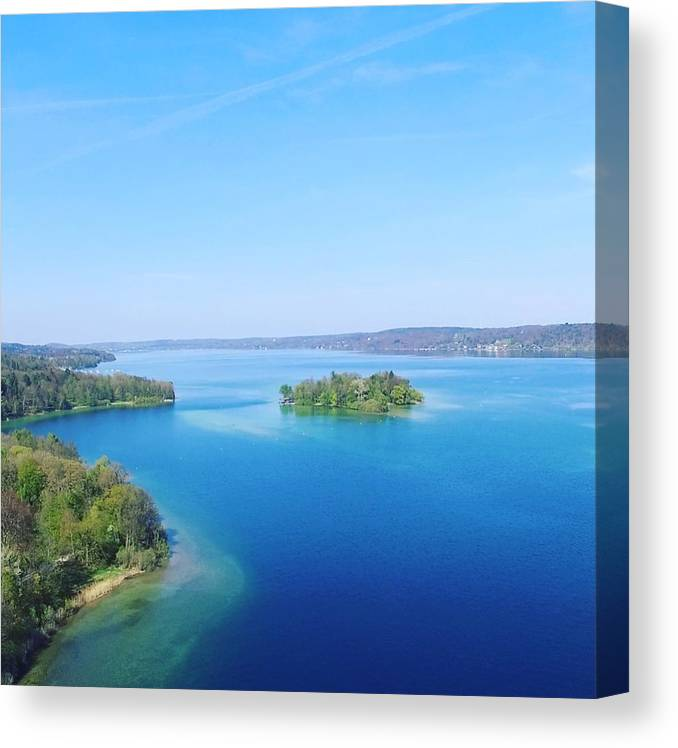 Starnberg Canvas Print featuring the photograph Roseisland by Daniel Hornof