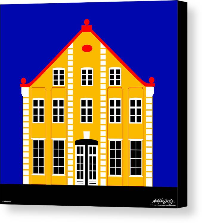 Architecture Canvas Print featuring the digital art 7 North Street by Asbjorn Lonvig