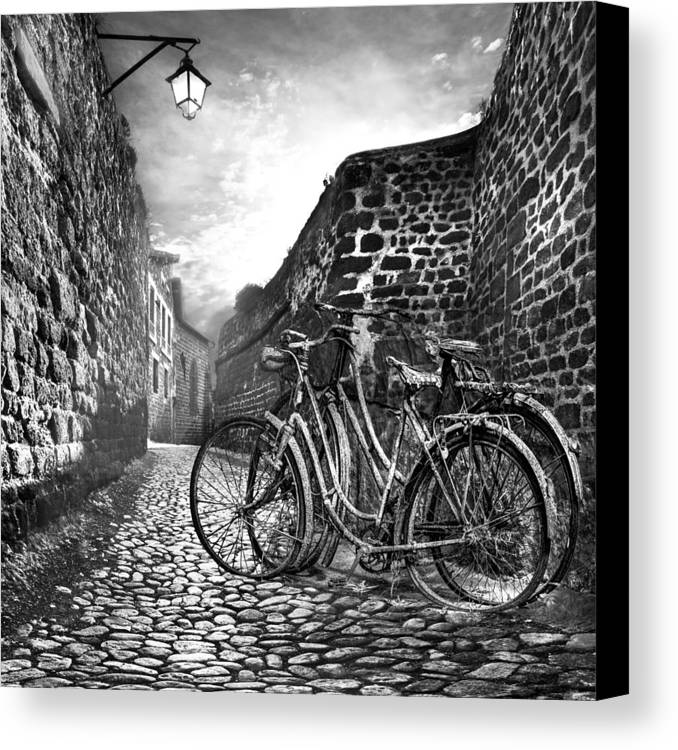Appalachia Canvas Print featuring the photograph Old Bicycles On A Sunday Morning by Debra and Dave Vanderlaan