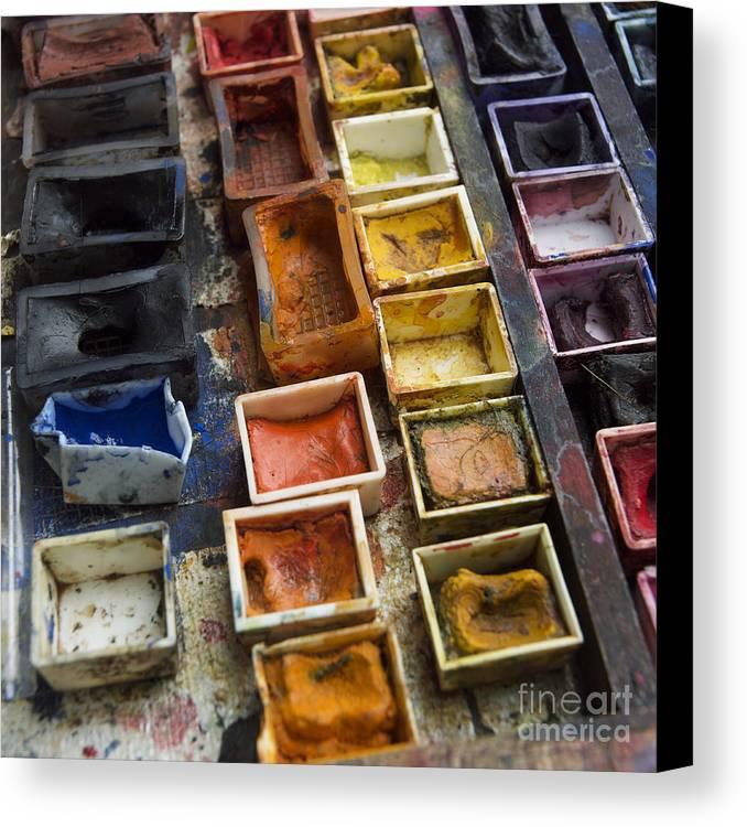 Indoors Canvas Print featuring the photograph Paint Box by Bernard Jaubert