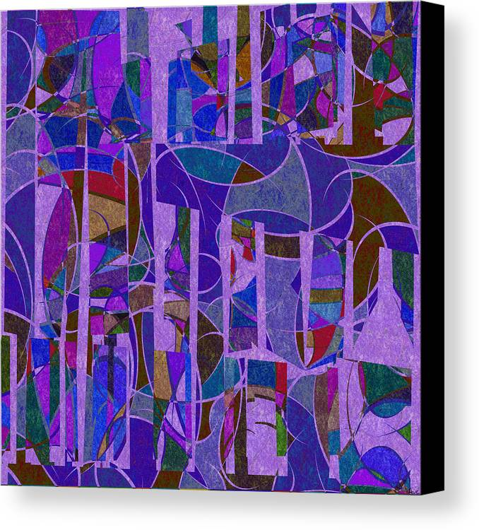 Abstract Canvas Print featuring the digital art 1022 Abstract Thought by Chowdary V Arikatla