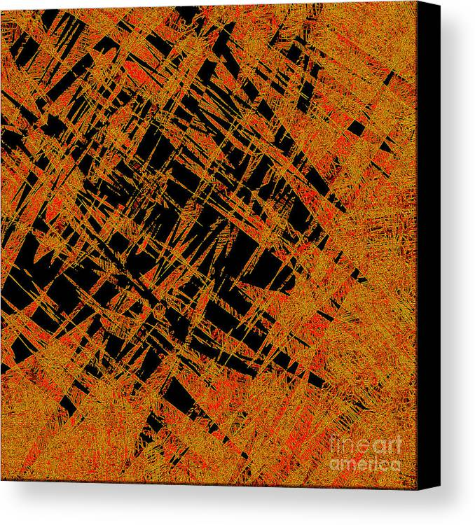 Abstract Canvas Print featuring the digital art 1126 Abstract Thought by Chowdary V Arikatla