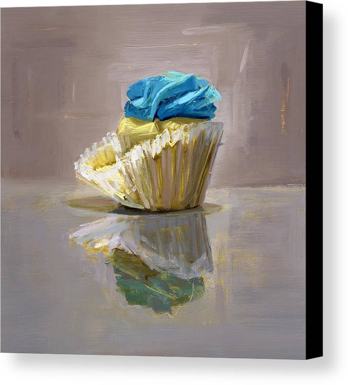 Cupcake Canvas Print featuring the painting Rcnpaintings.com by Chris N Rohrbach