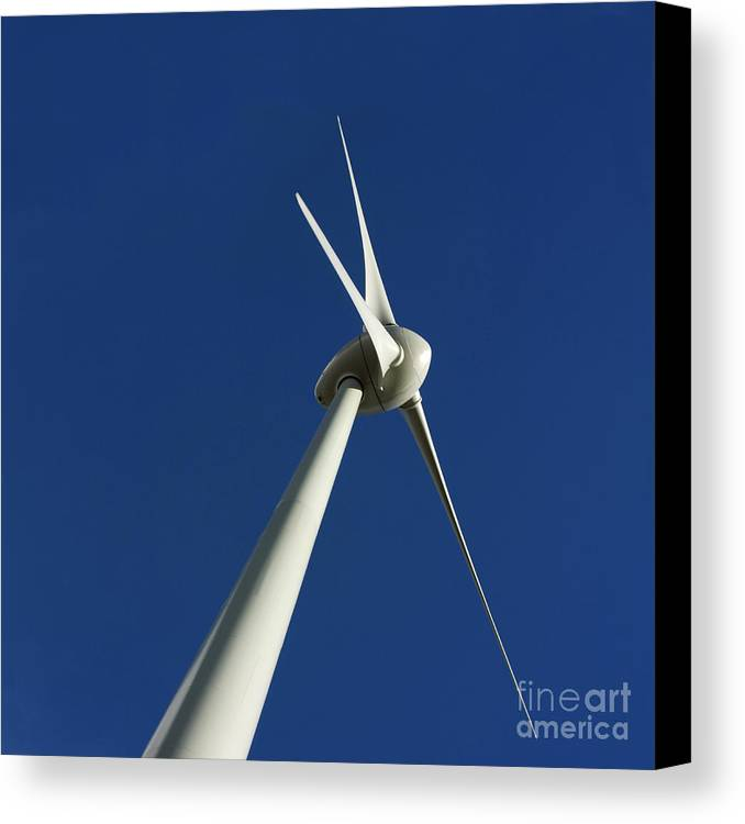 Renewable Energy Canvas Print featuring the photograph Wind Turbine by Bernard Jaubert