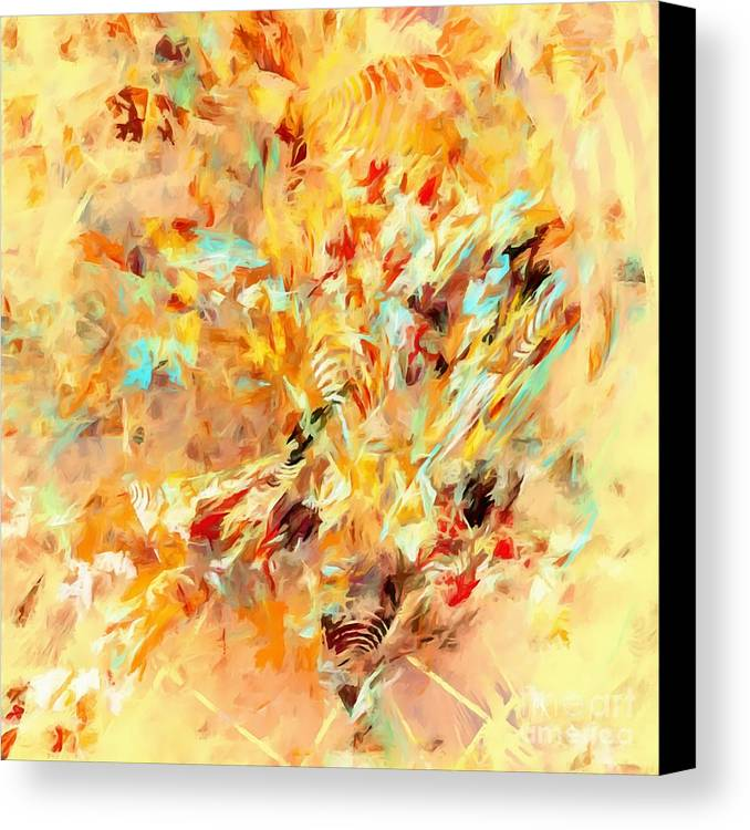Graphics Canvas Print featuring the digital art Abstraction 0263 Marucii by Marek Lutek