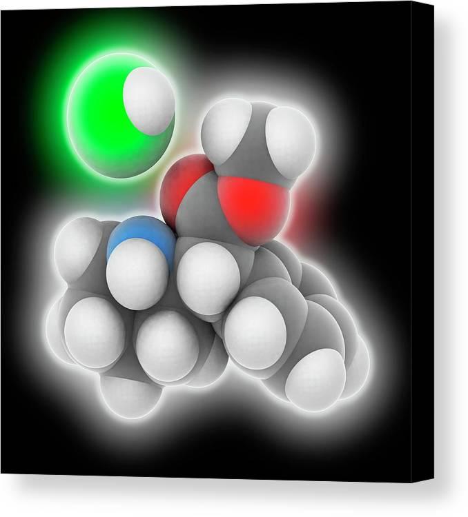 Adhd Treatment Canvas Print featuring the photograph Adhd Drug Molecule by Laguna Design