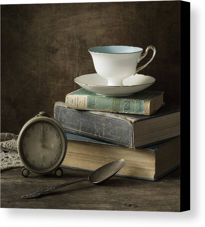 Tea Cup Canvas Print featuring the photograph Afternoon Tea by Amy Weiss