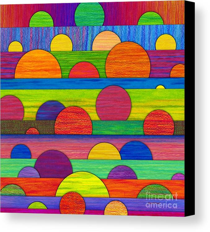 Colored Pencil Canvas Print featuring the painting All Tucked In by David K Small