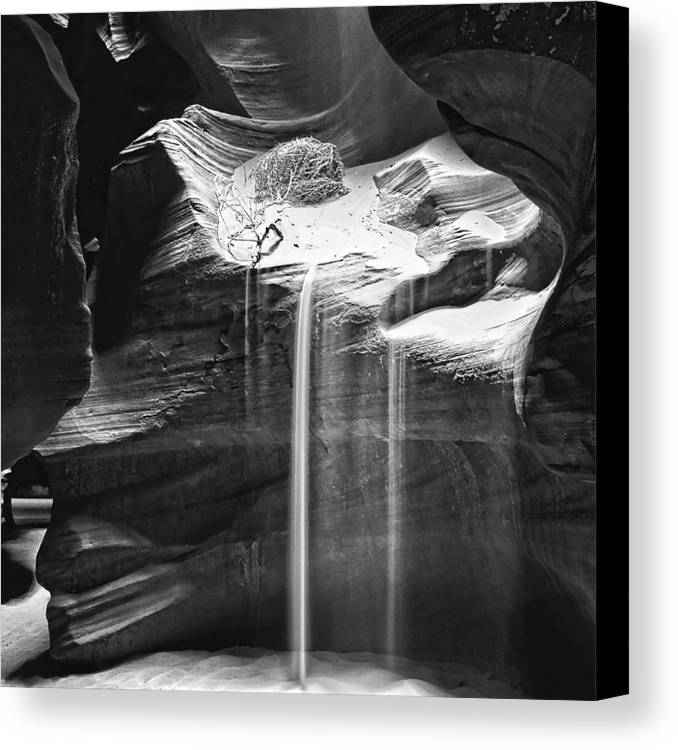 Antelope Canyon Sand Fall Canvas Print featuring the photograph Antelope Canyon Sand Fall by Wes and Dotty Weber