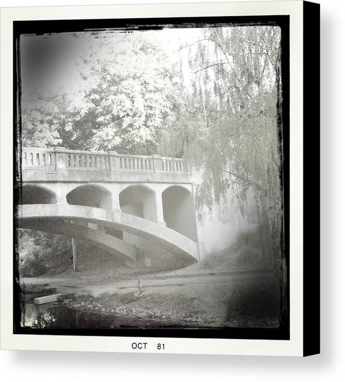Arboretum Canvas Print featuring the photograph Arboretum Bridge by Justine Connolly