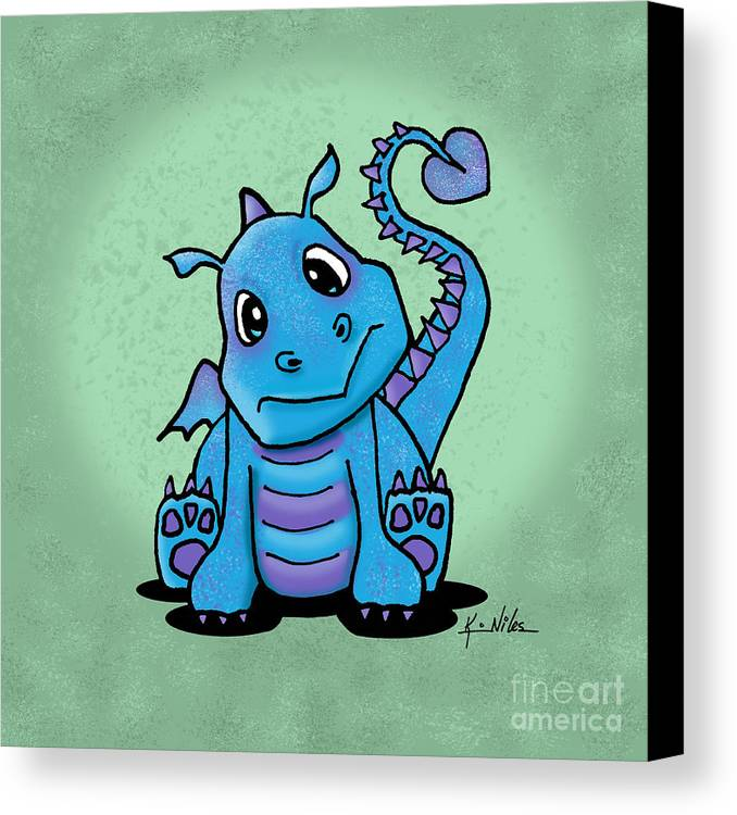 Dragon Canvas Print featuring the digital art Baby Dragon by Kim Niles