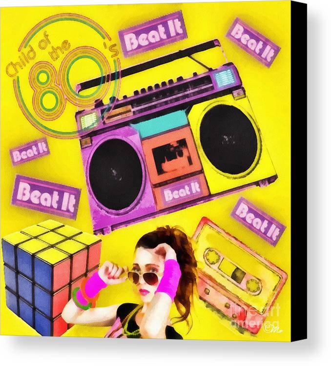 Beat It Canvas Print featuring the digital art Beat It by Mo T