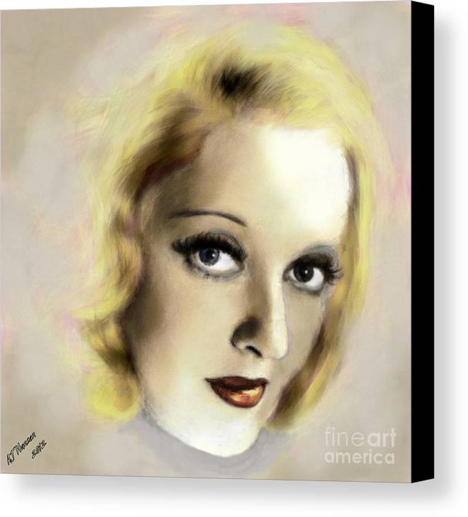 Arne J Hansen Canvas Print featuring the photograph Bette Davis Eyes by Arne Hansen