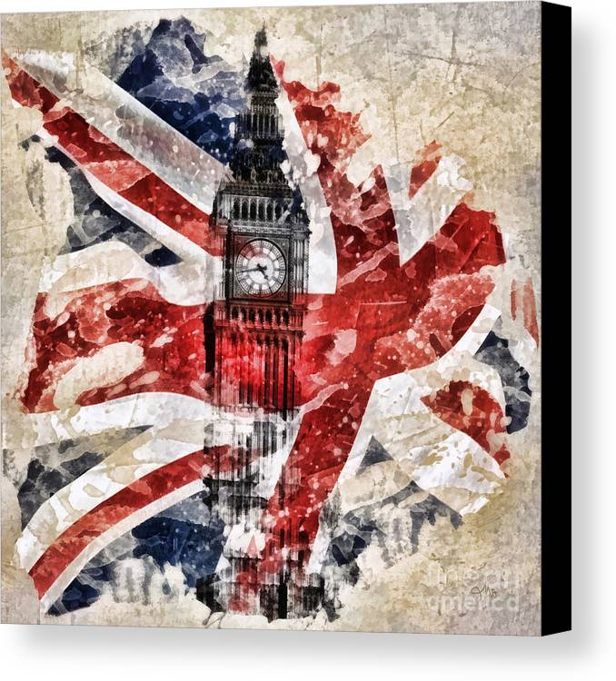 Big Ben Canvas Print featuring the painting Big Ben by Mo T