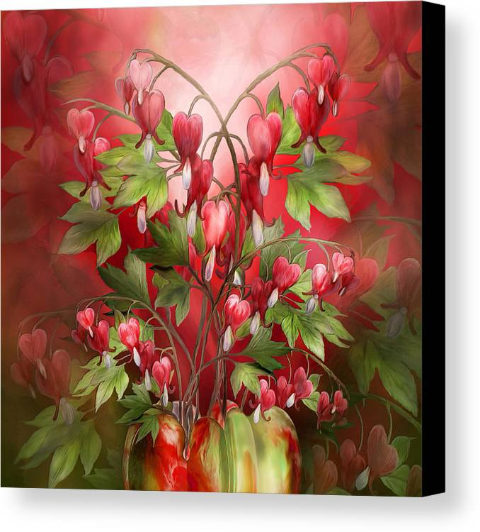 Bleeding Hearts Bouquet Canvas Print / Canvas Art by Carol Cavalaris