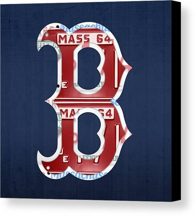Boston Red Sox Logo Letter B Baseball Team Vintage License Plate Art ...