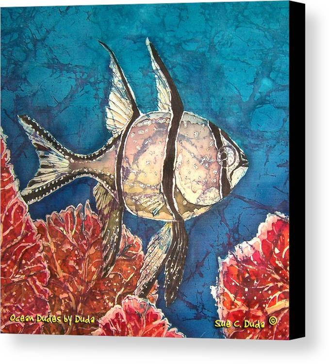 Cardinalfish Canvas Print featuring the painting Cardinalfish by Sue Duda
