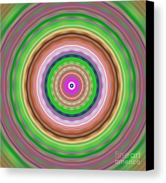 Abstract Canvas Print featuring the digital art Cheerios-c-blurred by Ron Brown