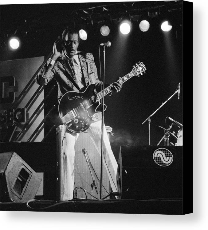 Music Canvas Print featuring the photograph Chuck Berry At The North Sea Jazz Festival 1987 by Wim VanZon