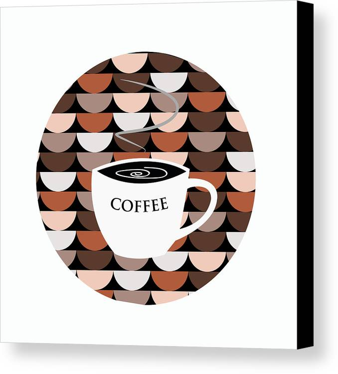 Coffee Canvas Print featuring the digital art Coffee Time by Kenneth Feliciano