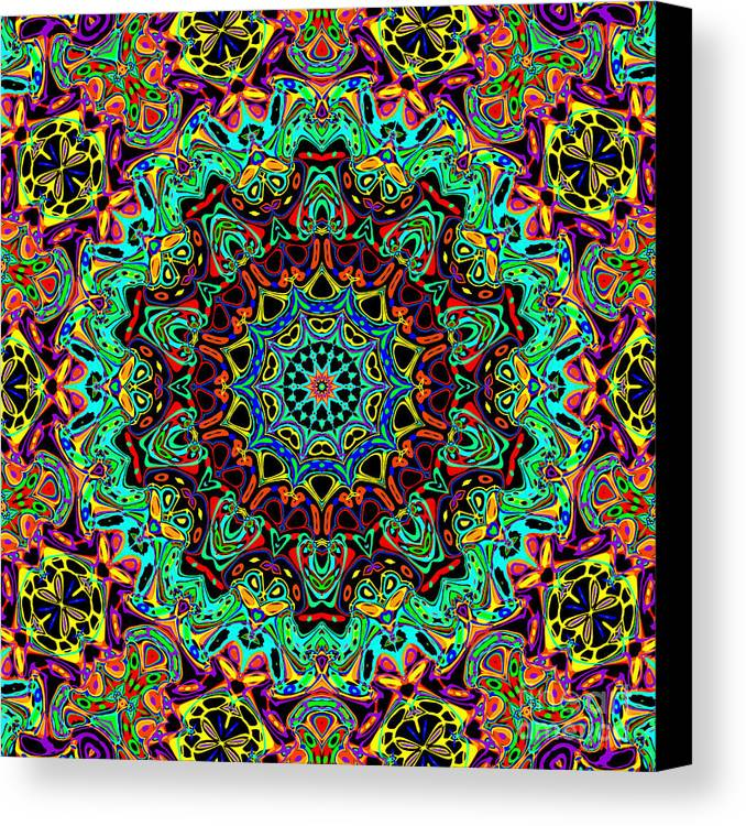 Abstract Canvas Print featuring the digital art Des Fleurs by Ron Brown