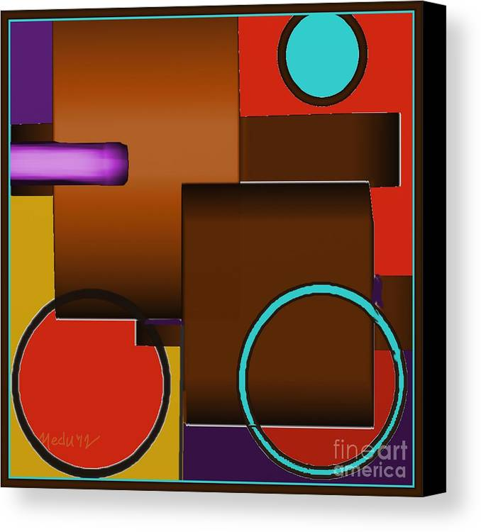 Art Online Canvas Print featuring the painting Digital Design 510 by Nedunseralathan R