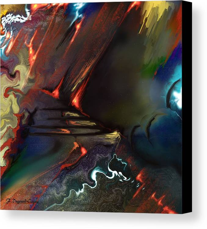 Abstract Canvas Print featuring the painting Dragonland by Francoise Dugourd-Caput