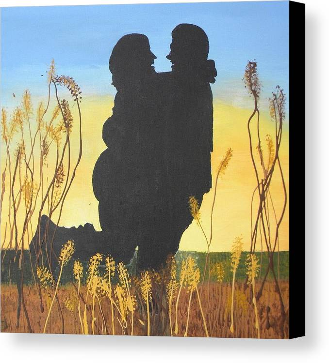 Lovers Canvas Print featuring the painting Engaged by Marcia Grubb