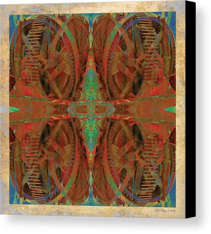 Gear Canvas Print featuring the digital art Entropy Machine by Bill Jonas