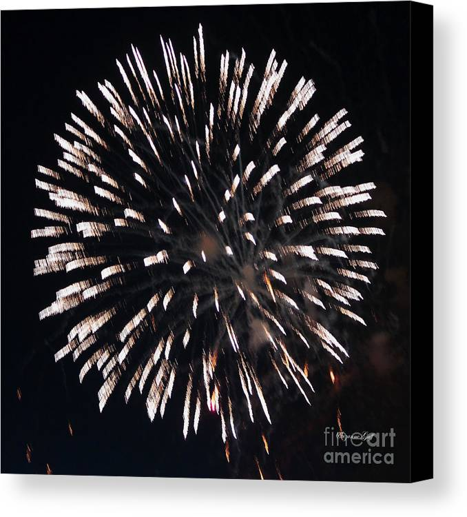 July Canvas Print featuring the photograph Fireworks Series X by Suzanne Gaff